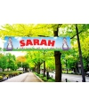 Tuin decoratie banner Sarah 2 meter