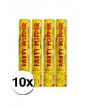 10 gouden papieren confetti kanonnen  28 cm