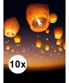 10 stuks witte wensballonnen XL 50 x 100 cm