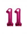 Verjaardag ballonnen 11 jaar roze