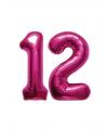 Verjaardag ballonnen 12 jaar roze
