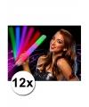 12 lichtgevende gekleurde glow sticks