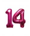 Verjaardag ballonnen 14 jaar roze