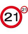 21e verjaardag placemats stopborden