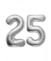 25 jaar huwelijk folie ballonnen