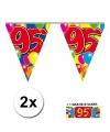 95 jaar vlaggenlijnen 2x met gratis sticker