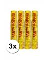 3 gouden papieren confetti kanonnen  28 cm