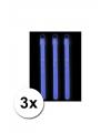 Lichtgevende glow sticks blauw 3 stuks
