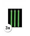 Lichtgevende glow sticks groen 3 st