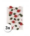 3 decoratieve rode rozen slingers 2 meter