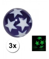 3 stuiterballetjes glow in the dark sterren