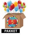 5 jaar feestartikelen pakket