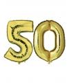 50 jaar huwelijk folie ballonnen goud
