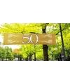 Gouden 50 jaar spandoek 180 x 40 cm
