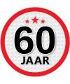 Ronde 60 jaar sticker