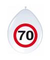 70e verjaardag ballonnen met stopborden
