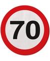 70e verjaardag servetten stopborden