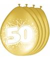 Gouden ballonnen 50 jaar getrouwd