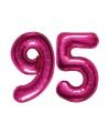 Verjaardag ballonnen 95 jaar roze