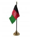 Afghanistan vlaggetje met standaard