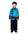 Chinees kinder kostuum blauw