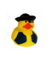 Geel piraten badeendje met zwart vest 5 cm
