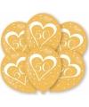 Gouden huwelijk ballonnen 50 jaar 6 st