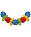 Vrolijke ballonnen slinger Happy Birthday