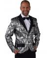 Barok colbert jasje zilver voor heren