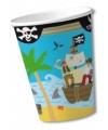 Feest bekers piraten thema 8 stuks