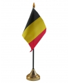 Belgie vlaggetje met standaard