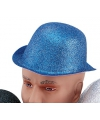 Blauw glitter bolhoedje