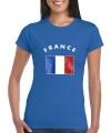 Dames t-shirt met de Franse vlag