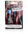 Blauw krijt voor in het haar