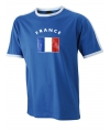 Heren t-shirt met Franse vlag
