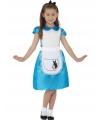 Voordelige blauwe Alice prinsessenjurk