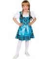 Blauwe Tirol jurk voor meisjes