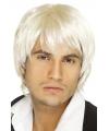 Boyband pruik blond