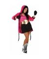 Roze bokser kostuum voor dames