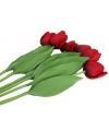 Realistische rode tulpen bos 48 cm