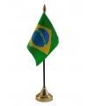 Brazilie vlaggetje met standaard