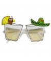 Bril met plastic tequila glazen