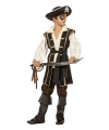 Jack piraat kostuum bruin voor jongens