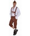 Bruine Oktoberfest lederhosen