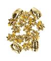 Kadolint en strikjes goud 16-delig