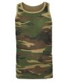 Camouflage singlet voor heren