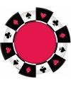 Speelkaarten wegwerp borden