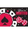 Speelkaarten uitnodiging