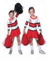 Cheerleader jurkje met plooirok voor meiden