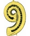 Gouden ballon cijfer 9